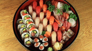 Partner thumb sushi and sashimi catering platter 10